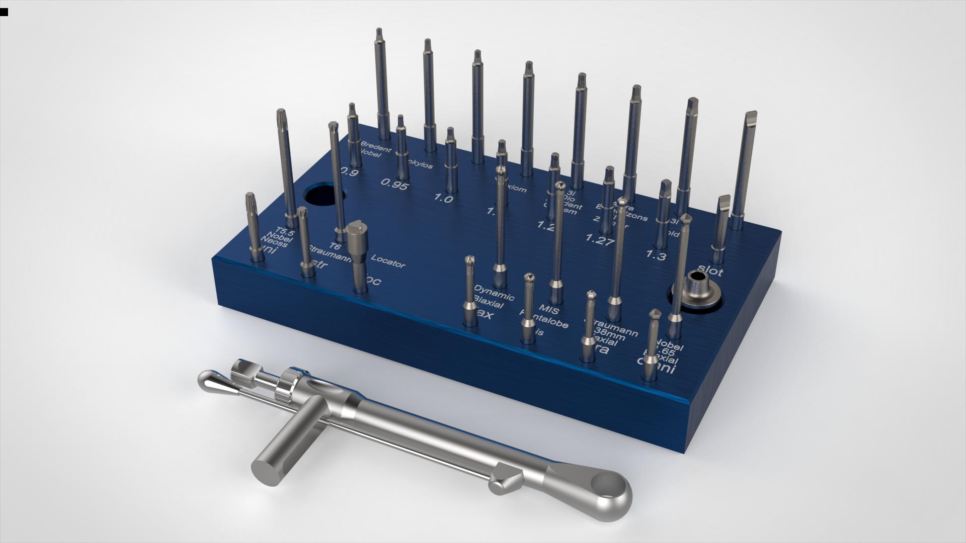 Blue implant set